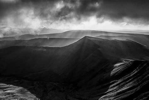 mountain range black  white snapshots xcitefunnet