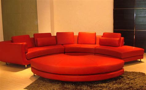 contemporary curved sectional sofa contemporary red velour fabric curved leather sectional