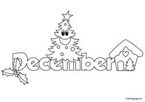 of december colouring pages - December Coloring Pages Printable