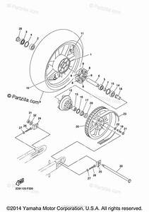 Yamaha Motorcycle 2015 Oem Parts Diagram For Rear Wheel