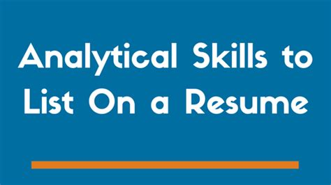 what are analytical skills 100 what are some good skills for a resume personal