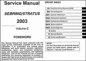 2003 Sebring  U0026 Stratus Coupe Repair Shop Manual Original 4