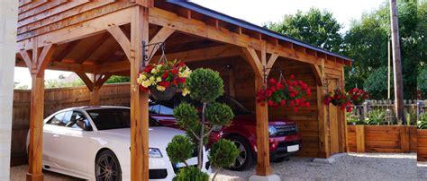 timber frame carports timber carports oak carports post beam car kits
