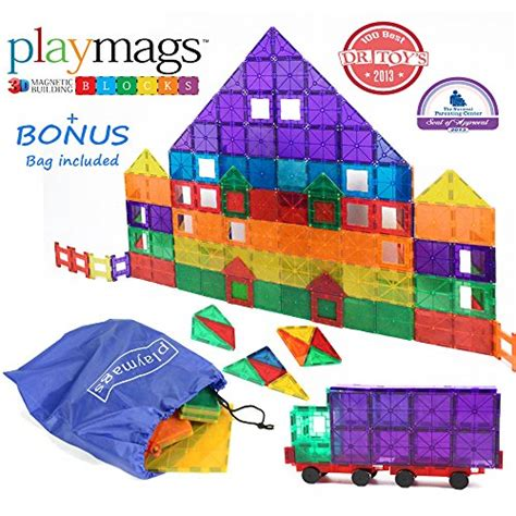 award winning playmags clear colors magnetic tiles deluxe