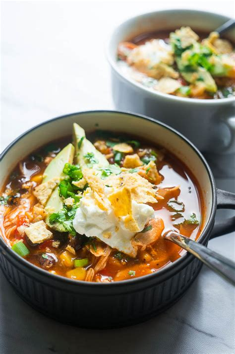 cooker chicken tortilla soup pressure cooker tortilla soup recipe dishmaps