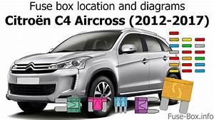 Fuse Box Location And Diagrams  Citroen C4 Aircross  2012