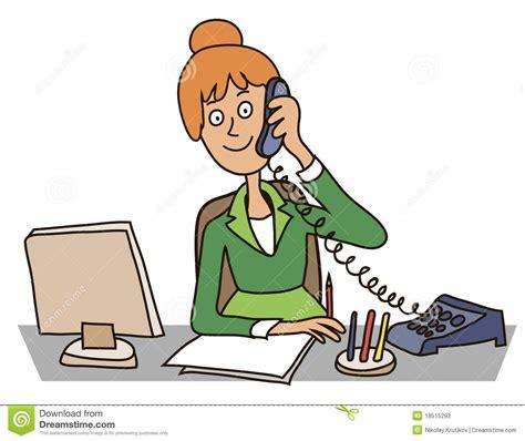dans le bureau secrétaire dans le bureau photos stock image 18515293