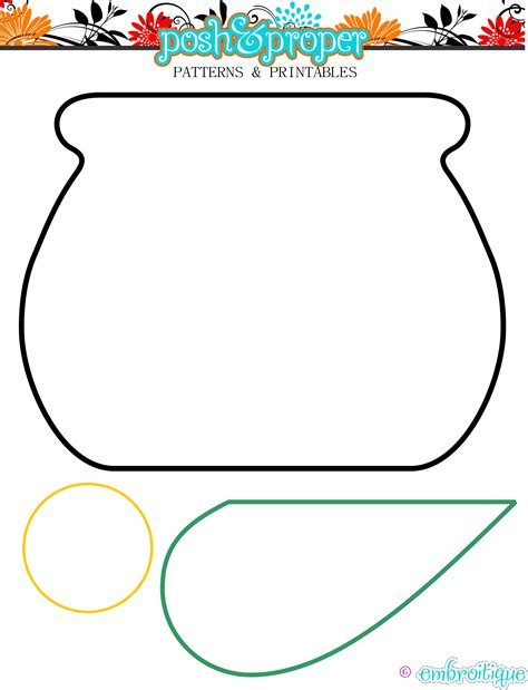 pot of gold template pot of gold cut out free clipart