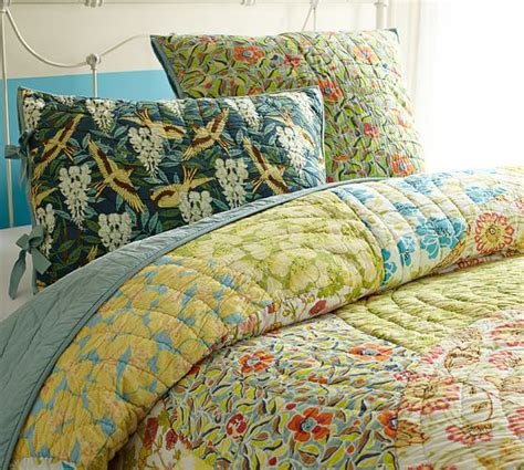 pottery barn quilt scalloped organic patchwork quilt sham pottery barn