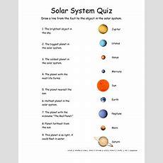 Solar System Quiz  Worksheet Educationcom
