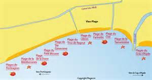 Vias Plage Carte plage de sainte genevieve vias 34 h 233 rault languedoc