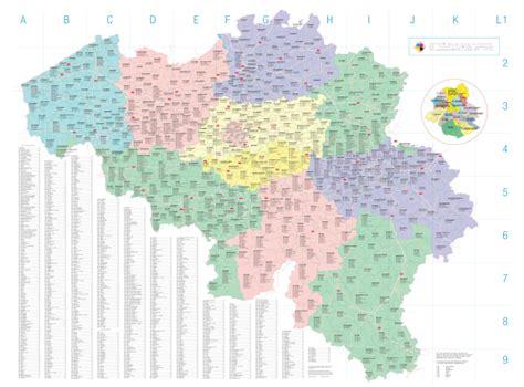 Carte Code Postal by Carte Belgique Codes Postaux Kaart Belgie Postcode Map