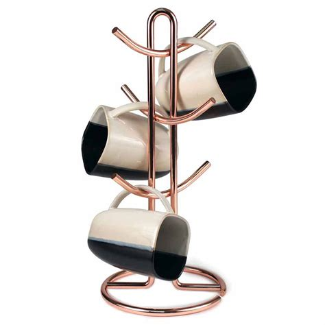 coffee mug rack coffee cup holder copper in coffee mug holders