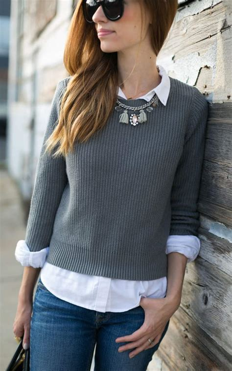sweater blouse combo cool sweater and shirt combos to wear in 2016