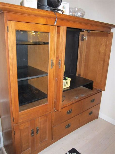 Armoire Tv Cabinets by Hardwood Wood Tv Console Stand Armoire Cabinet