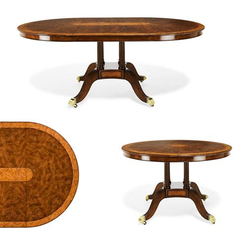 72 inch 4 in 1 game table 48 inch round to oval walnut and yew banded dining table