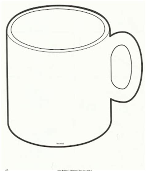 coffee mug template coffee cup outline clipart clipground