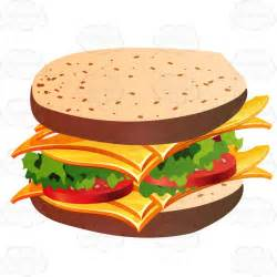 Cartoon Cheese Sandwich