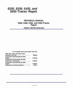 John Deere 5220 5320 5420 5520 Tractor Repair Manual Pdf