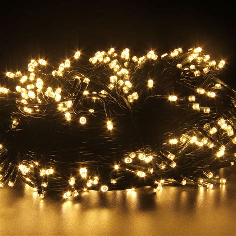 500leds 100m string fairy lights warm white christmas tree