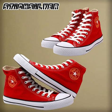 Sepatu Merk Warriors jual sepatu sticksilver tinggi merah sepatu warrior