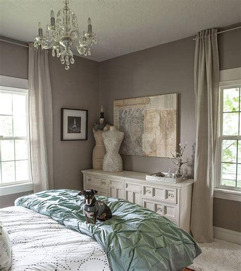 west elm bedroom gray grey calm cozy lia griffith pintuck duvet headboard tufted master bedroom