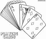 Coloring Playing Cards Card Poker Jawar Getdrawings Drawing sketch template