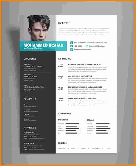 Great Cv Templates Free by 5 Cv Modern Template Theorynpractice