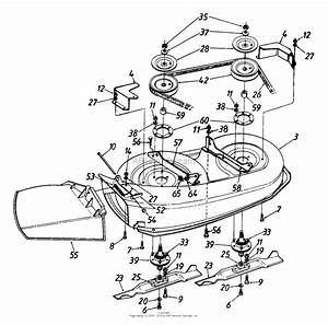 Mtd 136e450e022  1996  Parts Diagram For Deck Assembly