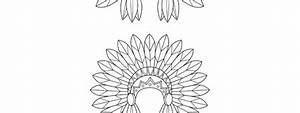 Indian Headdress Template  U2013 Medium