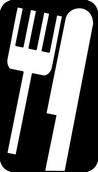 fork and knife clipart black and white fork knife clip free vector 4vector