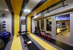 Basement Gym Idea Home Gym Contemporary Glass Wall Basement Design Ideas For Family Room