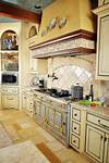 french country kitchen Interior Designer Adapts 18th Century French Wine Shop Design to 15,000-sq. ft. Luxury Home