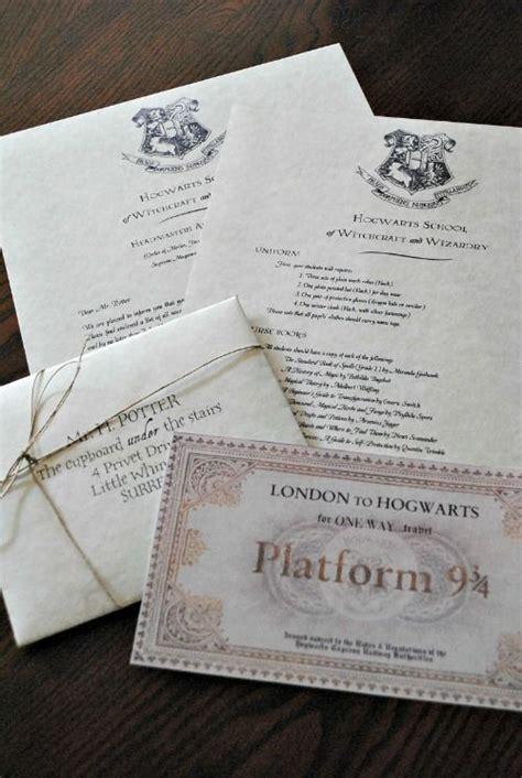 diy instructions     hogwarts acceptance letter