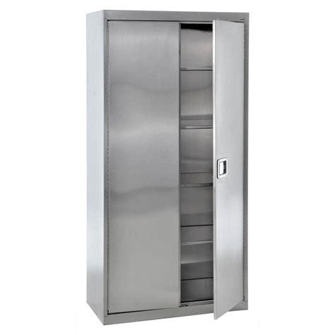 outdoor metal storage cabinet sandusky 78 in h x 36 in w x 24 in 5 shelf d stainless