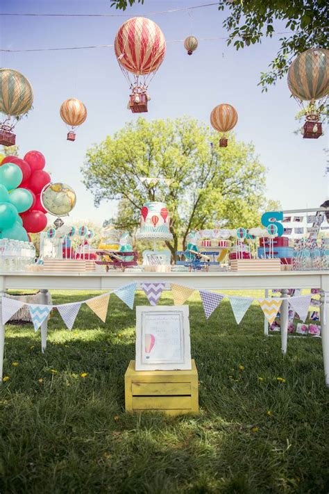 karas party ideas hot air balloon     st