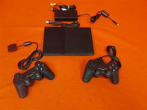 Playstation 2 Console Slim Ps2 With Matrix Mod And Controller
