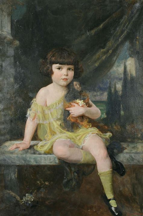 Filedouglas Volk Na Young Girl In Yellow Dress Holding Her Doll Wikimedia Commons