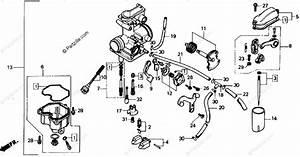Honda Motorcycle 1987 Oem Parts Diagram For Carburetor