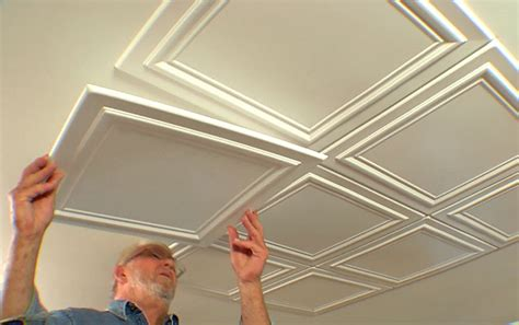 Polystyrene Ceiling Panels South Africa by Embossed Ceiling Tiles Add Elegance To A Room Diy