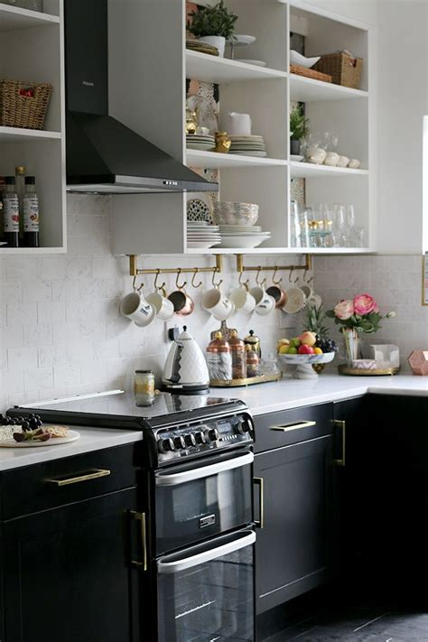 black kitchen accessories the reveal of our black white and gold kitchen black and 1683