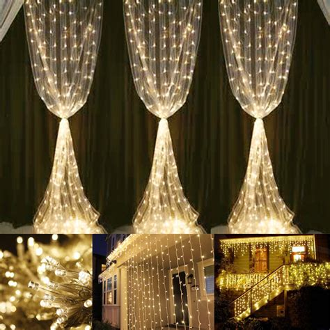 warm white curtain fairy lights  leds  ip