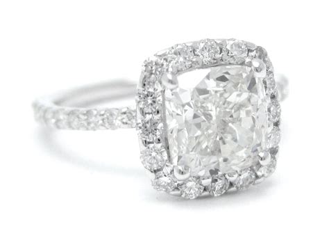 crafted harry winston cushion cut inspired