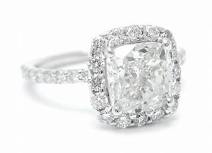 Hand Crafted Harry Winston Cushion Cut Inspired Diamond ...