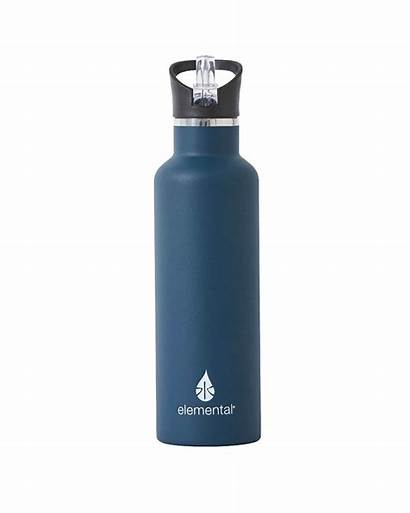 Water Bottle Steel Stainless Elemental Bottles Navy