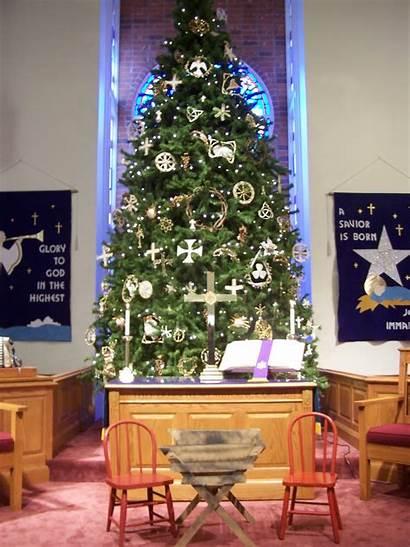Church Christmas Sanctuary Decorations Decorating Decoration Idea