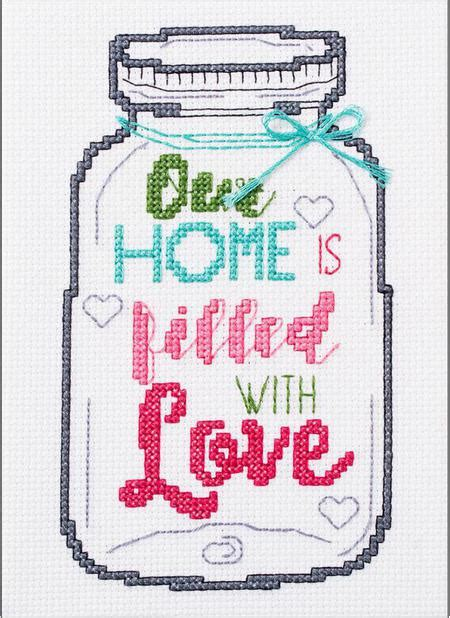 bucilla our home jar my 1st stitch cross stitch kit 123stitch