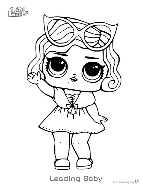 leading baby  lol surprise doll coloring pages