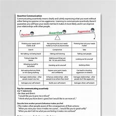 Assertive Communication Worksheet Pdf  Psychology Tools