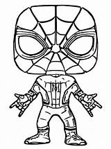 Funko Pop Marvel Coloring Pages Spider Spiderman Para Hulk Colorear Figures Character Popular Dibujos Pops Thanos Printable Disney Malarbilder Blank sketch template